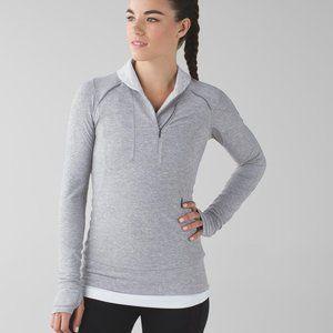LULULEMON Think Fast Pullover grey quarter zip